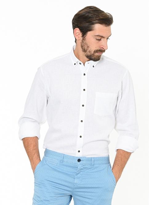 Beymen Business Uzun Kollu Gömlek Beyaz